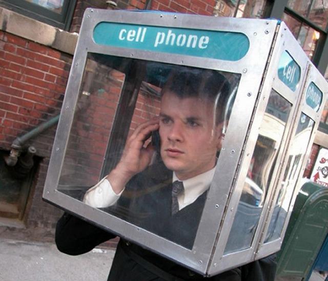 ビジネスマン必携の電話ボックス